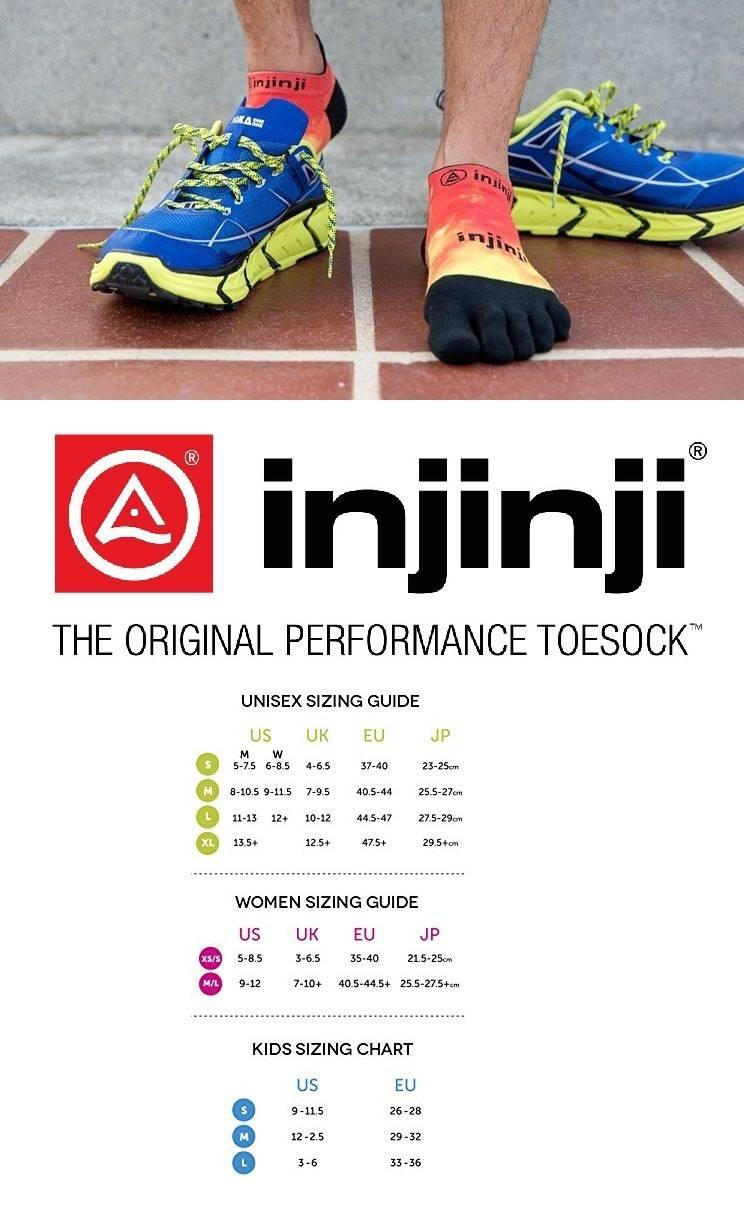 L Injinji Run Lightweight Coolmax No-Show Toe Socks Canyon Pink
