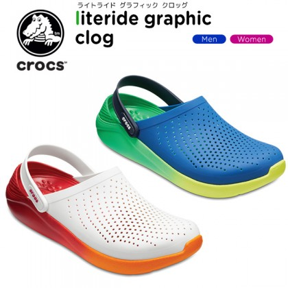 Authentic Crocs LiteRide Graphic Clog - Clearance
