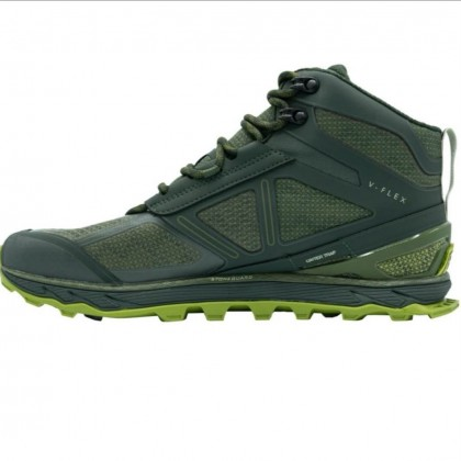 Altra Men's Lone Peak 4 Mid RSM Waterproof Hiking Shoes - Forest