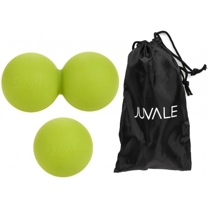 Juvale 2 Piece Deep Tissue Peanut Ball and Massage Balls - Rubber Trigger Point Roller Muscle Stress Therapy Balls for Myofascial, Muscle and Acupressure Relief