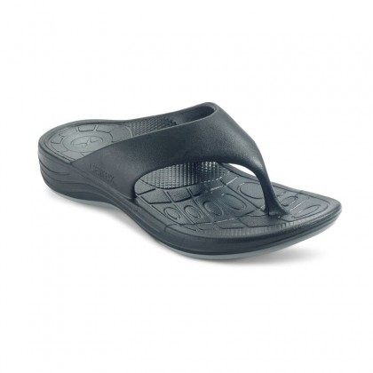Aetrex Mens Lynco Flip - Black