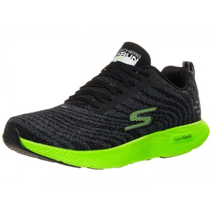 Skechers GOrun 7+ Men's Shoes - Black/Lime