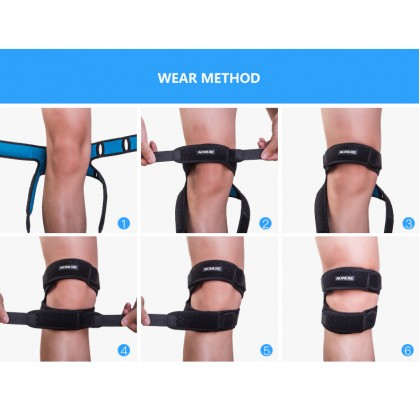 AONIJIE E4096 Dual Patella Knee Strap Athletics X-shaped Brace Support