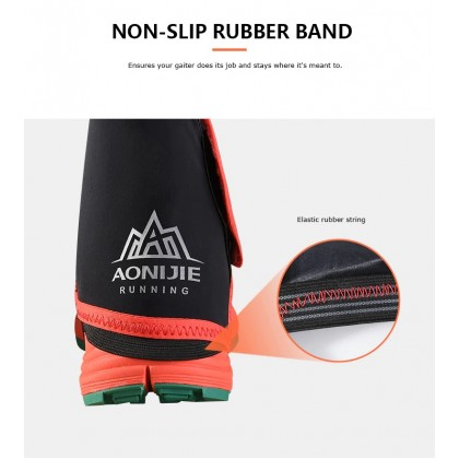AONIJIE E940 Outdoor Unisex High Trail Reflective Gaiters Protective Sandproof Shoe Covers