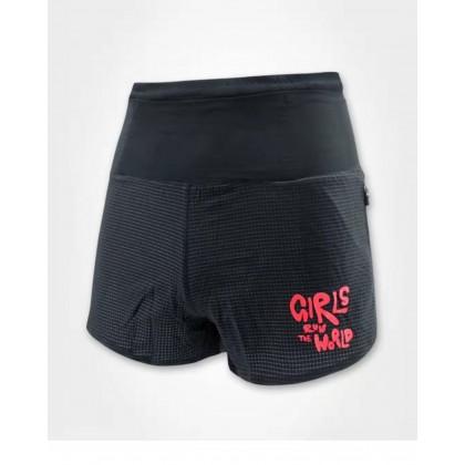 I Love Running Women's 5 inch Trail Shorts, Black