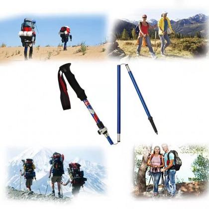 TREKPRO 5 Sections Aluminum Trekking Sticks Foldable Hiking Pole Folding Hiking Stick Walking Sticks to Trek Hiking Camp