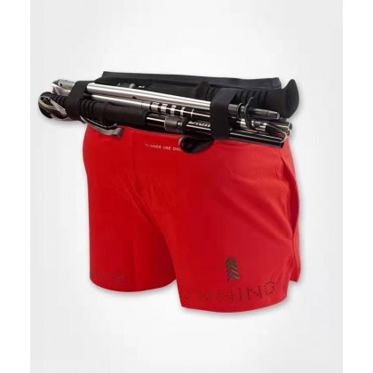 I Love Running Men's 5 inch Trail Shorts, Racing Red