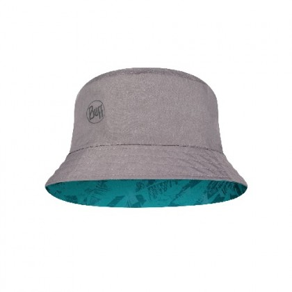 BUFF Travel Bucket Hat Acai Grey-Turquoise  [NewArrival]