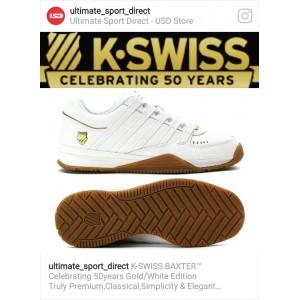 Men's K-Swiss Baxter Sneaker White/Gold/Gum