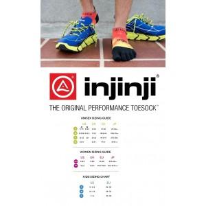 Injinji Performance 2.0 RUN LightWeight No Show Toe Socks- Black