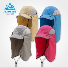 AONIJIE Outdoor Multifunction Detachable Sun Cap with removable neck flap