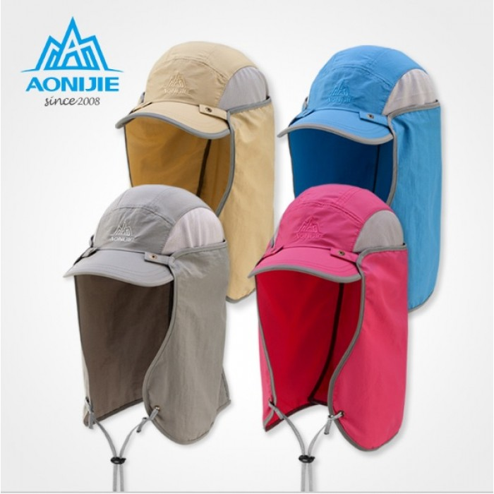 AONIJIE Outdoor Multifunction Detachable Sun Cap with removable neck flap 1079c2e2bc5