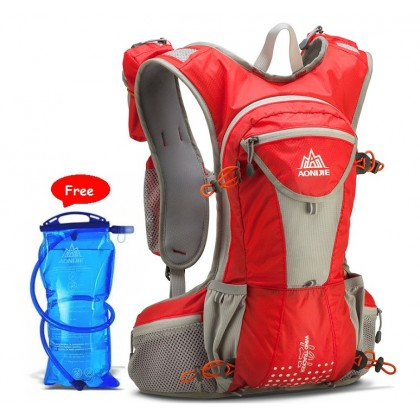AONIJIE 12L Unisex Waterproof Nylon Running Backpack with 2L water bag