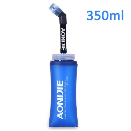 Aonijie Foldable Soft Flask TPU Squeeze Outdoor Sports with Long Straw