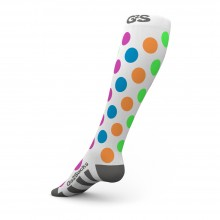 GO2 Multi-Color Polka Dots Compression Socks Unisex- S