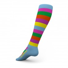 GO2 Multi-Color Stripes Compression Socks Unisex-S
