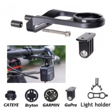 Bike Stem Extension Computer Mount GPS Bracket for Garmin Edge/Bryton/Cateye/GoPro