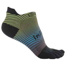 Injinji Run Lightweight No-Show Spectrum Neon Wave Toe Socks -Size M