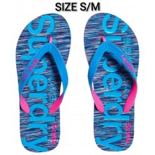 Superdry Scuba Woman Flip Flops -Multicolore (Purple&blue Slub)