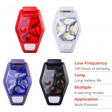 Aonijie Safety 4 LED IPX4 Waterproof Clip Blinker on Safety Warning Light for Night Running Cycling Walking