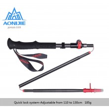 AONIJIE Adjustable Folding Ultralight Carbon Fiber Quick Lock Trekking Poles