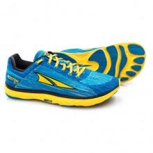 Altra Escalante Boston Mens Zero Drop Road Running Shoe Blue/Yellow