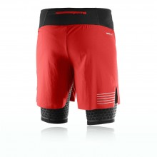 Salomon Exo Twinskin Mens Black Red Running Training Shorts