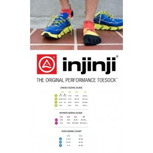 Injinji Run Lightweight No-Show Spectrum Half Tone Berry Toe Socks -Size M