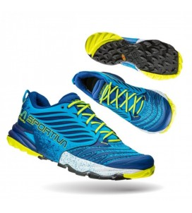 La-Sportiva Akasha Trail-Running Shoe Mens Blue/Yellow