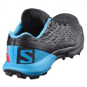 Salomon S-Lab XA Amphib Running Shoe - black/transcend blue/racing red