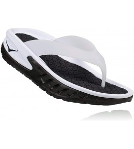 Hoka One One Ora Recovery Flip Flop - White/Black