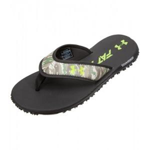 Under Armour Fat Tire Flip Flops- Black/Camo
