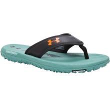 Under Armour Fat Tire Flip Flops- Black/White/Blaze-Orange