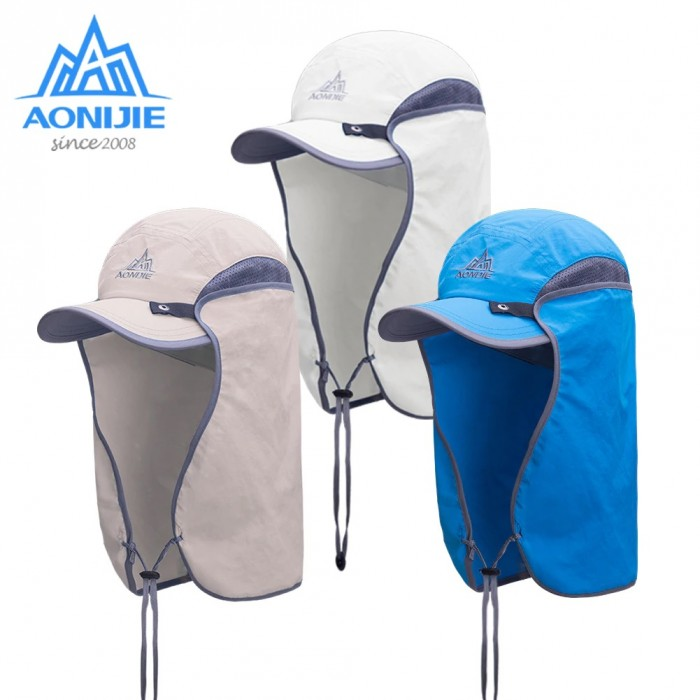 98f88cf12b3ead AONIJIE E4089 Unisex Hat Sun Visor Cap Hat Outdoor UPF 50 Sun Protection  with Removable Flap Cover