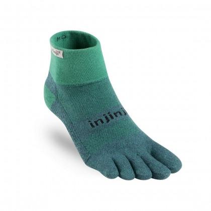 injinji Trail Midweight Mini-Crew Socks - Emerald