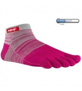 Injinji Sport Original Weight Micro Toe Socks - Grey Magenta