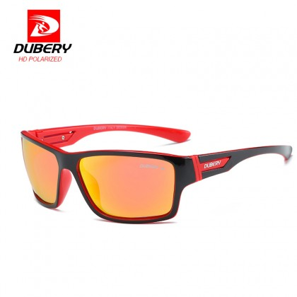 DUBERY DD2071 Polarized Sunglasses Unisex - Black/Red/Red