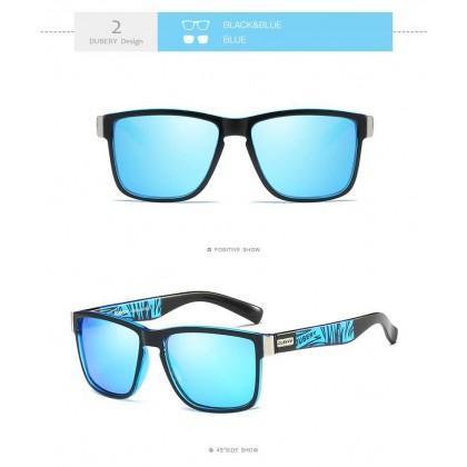 DUBERY DD518-02 Polarized Sunglasses Unisex - Black/Blue