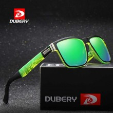 DUBERY DD518-02 Polarized Sunglasses Unisex - Black/Green