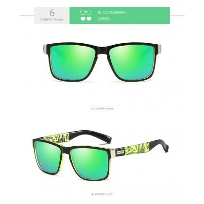 DUBERY DD518-02 Polarized Sunglasses Unisex - Black/Green