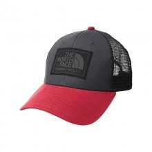 Authentic The North Face Mudder Trucker Cap - ASPHALT GREY / TNF RED