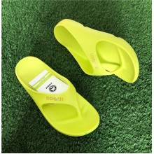 COQUI Unisex Flip Flop Recovery Sandal - Fluorescent Yellow