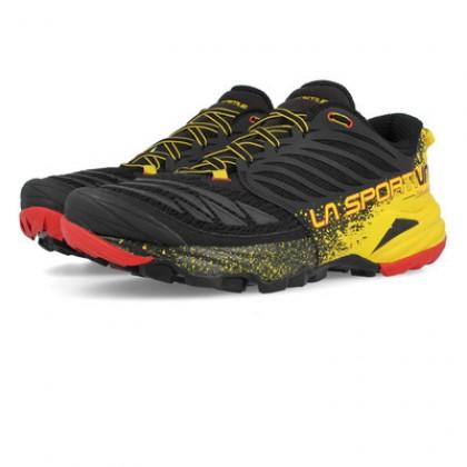 La-Sportiva Akasha Trail-Running Shoe Mens - Black/Yellow