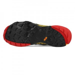La-Sportiva Akasha Trail-Running Shoe Mens - Black/Yellow