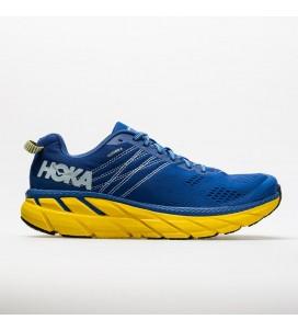 Hoka One One Clifton 6 Men's Road-Running Shoes - Nebulas Blue/Lemon