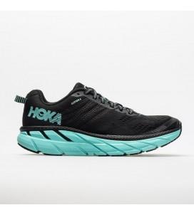 Hoka One One Clifton 6 Women's Road-Running Shoes - Black/Aqua Sky