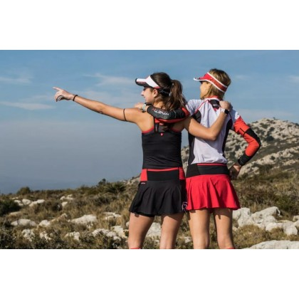 Kinetik woman running and trailrunning skirt-red