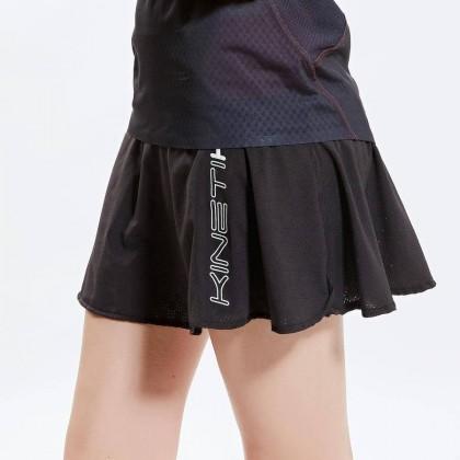 Kinetik woman running and trailrunning skirt-Black