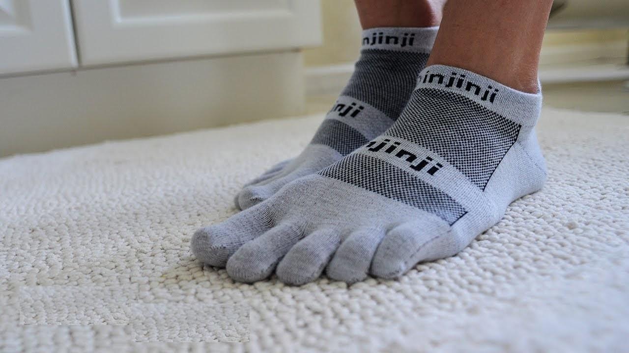 Show Toe Socks- Grey