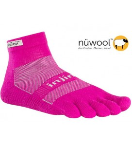 Injinji Outdoor Midweight Mini-crew NuWool - Rasberry